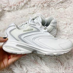 Reebok white walking jog sneakers tennis shoes 9.5